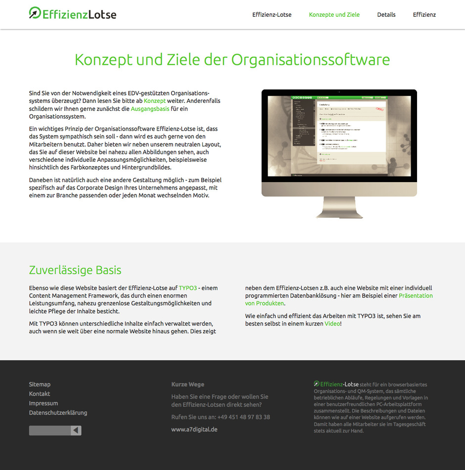 Design-Beispiele für flexible TYPO3-Websites - a7.layouts